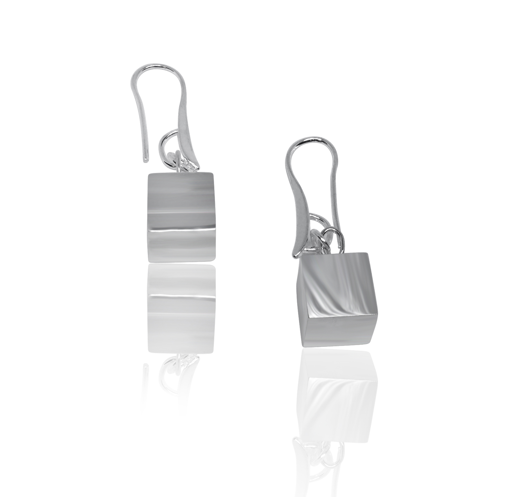 The Box silver earrings